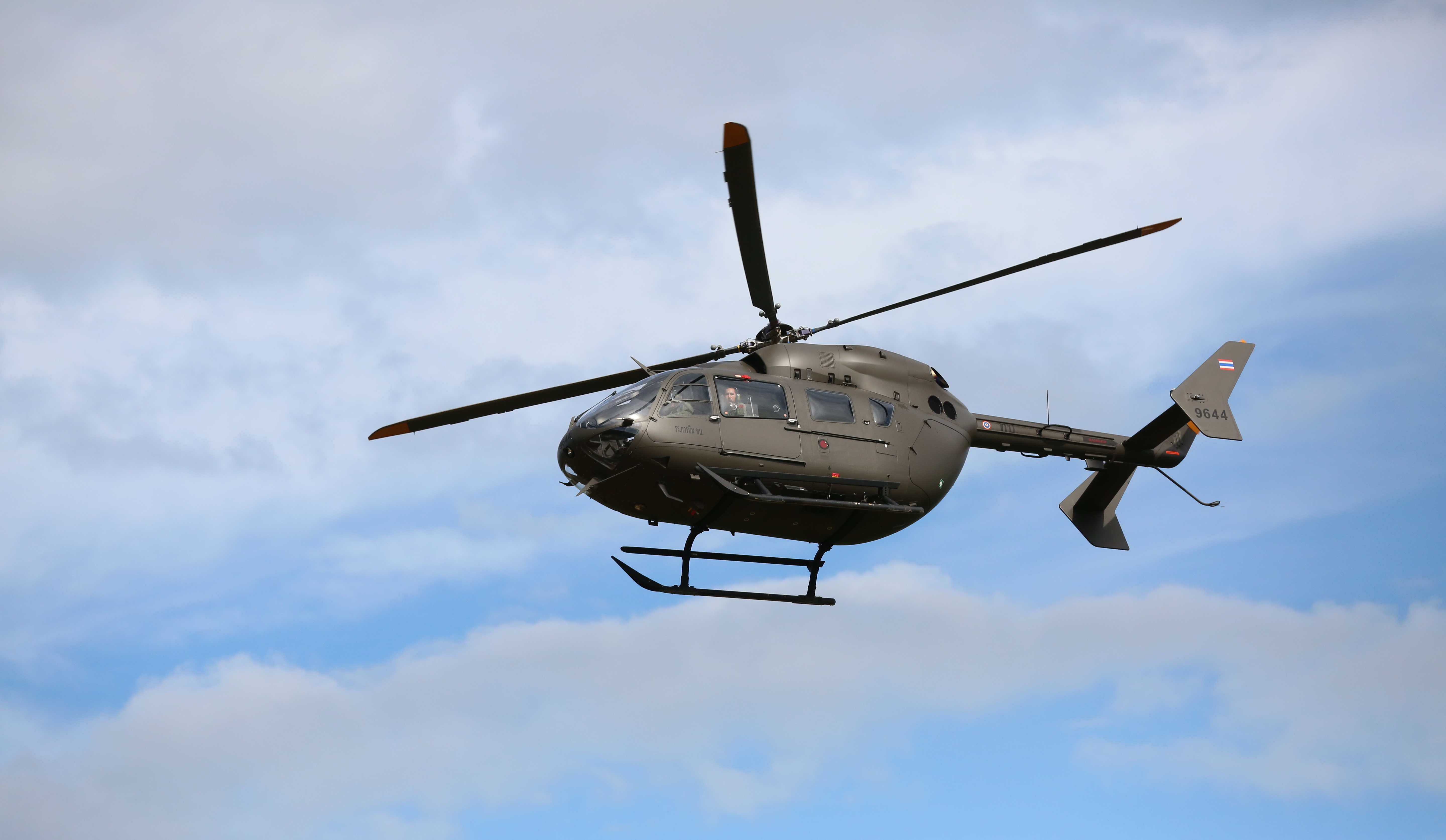 Canva - Gray Helicopter on Air