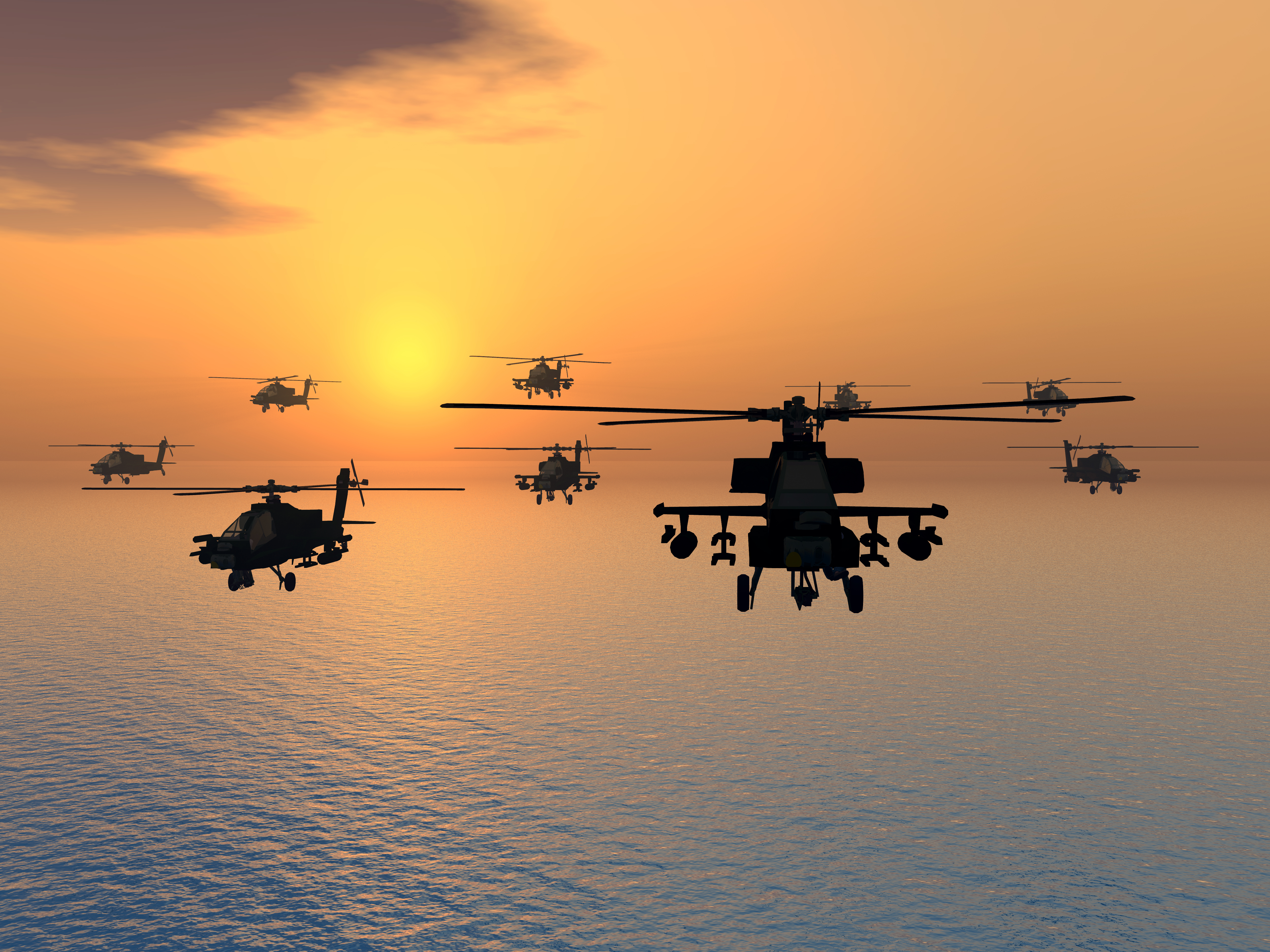 What is an Apache helicopter and what does it do?