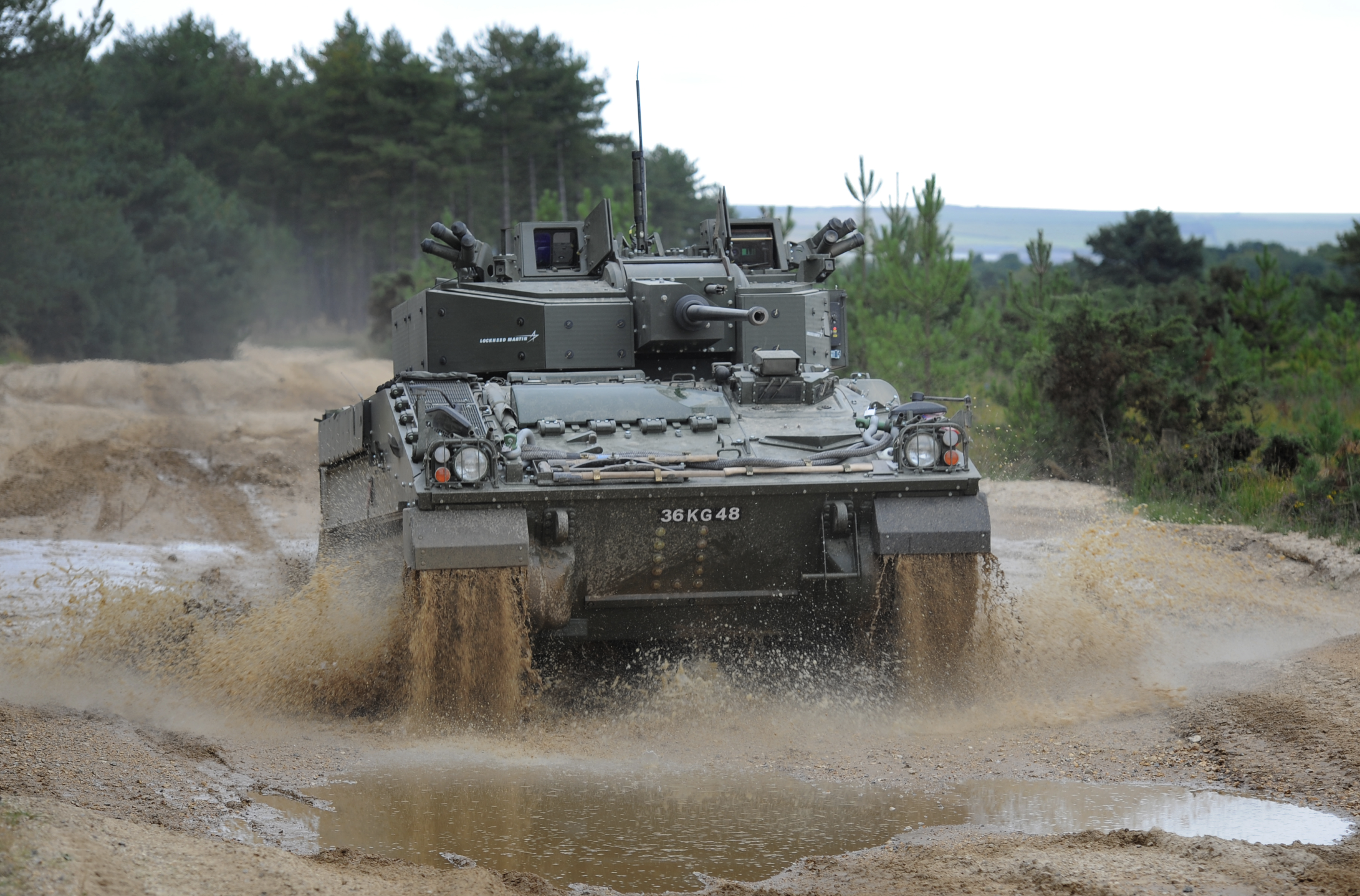 What's a Warrior armoured vehicle and what does it do?