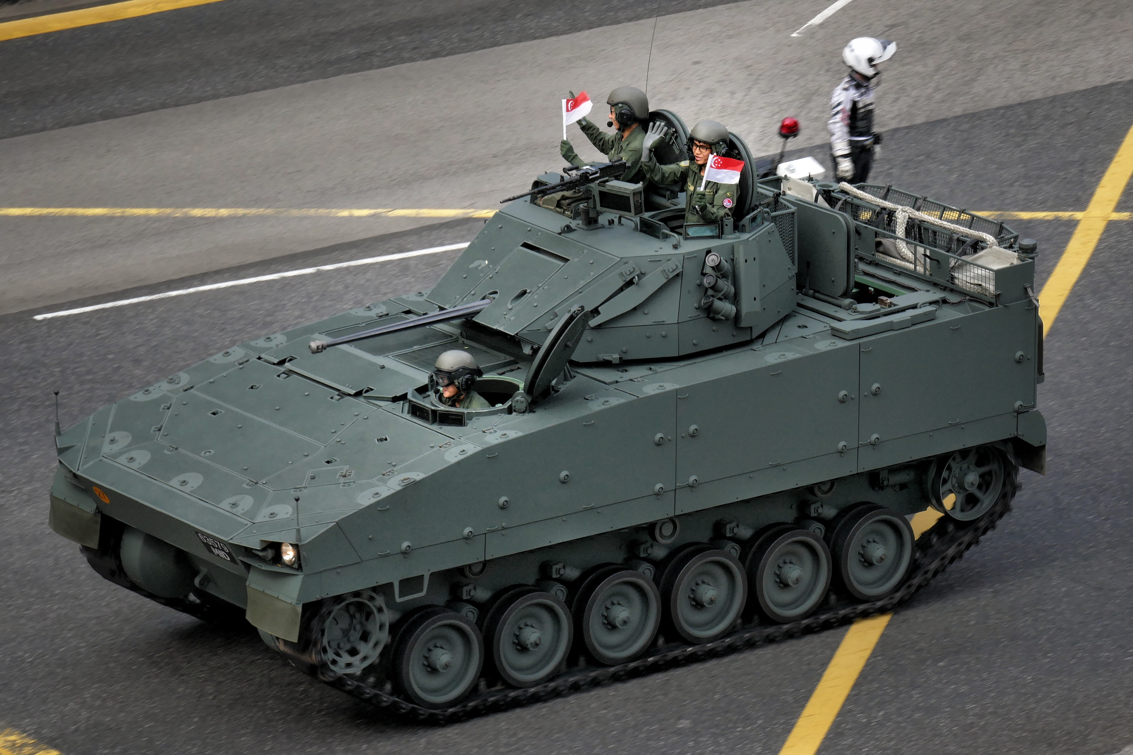 What is a Boxer armoured fighting vehicle and what does it do?